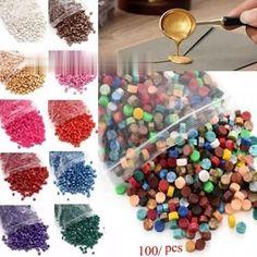 100Pcs/bag Grain In Bulk Octagonal Envelope Dedicated Mud DIY Gift Box Retro Sealing Wax