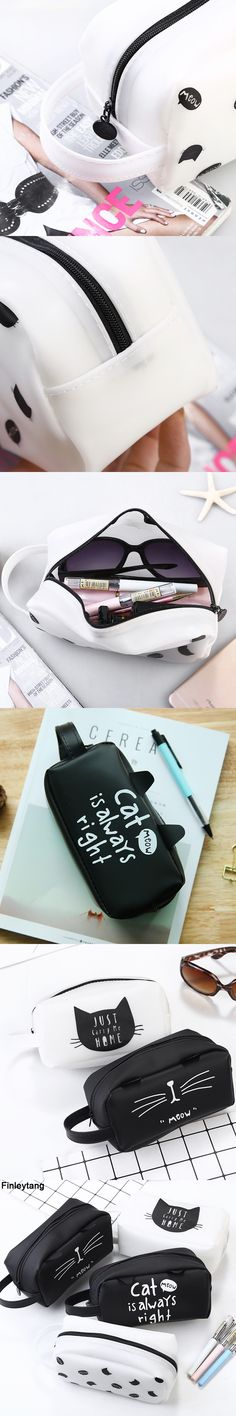 Animal Cat Pencil Case Big Capacity Pen Bag Boxes Student School Supplies Multifunction Stationery Creative Cute Student Gifts