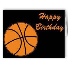 Basketball Happy Birthday Card Ecard Boy Man