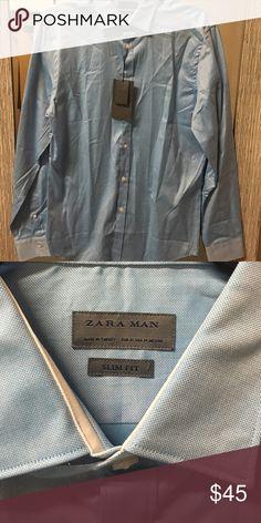 NWT ZARA MENS DRESS SHIRT Tag attached. 100% cotton Zara Shirts Dress Shirts