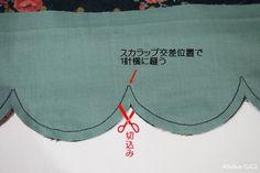 裾をスカラップにする縫い方 - Atelier GiGi のソーイング・ノート
