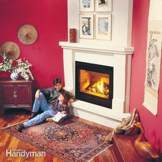 Enjoy the comfort and ambiance of a crackling fire on a cold winter's night. Here we'll show you how to install a gas fireplace. Don't worry about installing a chimney. You don't need one. You simply vent the fireplace out the side of the house. Once the fireplace is installed, you just flip a switch to start a roaring fire.