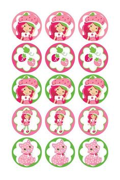 Strawberry Shortcake digital collage sheets 1 Inch Circles for Round Bottle… Bottle Cap Jewelry, Bottle Cap Necklace, Bottle Cap Art, Bottle Cap Crafts, Diy Bottle, Imprimibles Toy Story, Picture Magnets, Strawberry Shortcake Birthday, Diy And Crafts