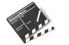 Filmklappe. Ruhe am Set - Ton läuft, Kamera ab und Action!