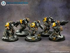 Den of Imagination - Gallery Warhammer 40k Space Wolves, Warhammer 30k, Wolf Painting, Warhammer 40k Miniatures, Painting Services, The Grim, Crusaders, Space Marine, Marines