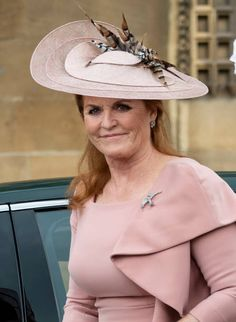 Sarah Ferguson, Duchess of York attends the wedding of Lady Gabriella Windsor and Mr Thomas Kingston at St George's Chapel, Windsor Castle on May 2019 in Windsor, England. (Photo by Mark Cuthbert/UK Press via Getty Images) Sarah Ferguson, Sarah Duchess Of York, Duke And Duchess, Duchess Of Cambridge, Princess Alexandra, Princess Mary, Eugenie Of York, Duke Of York, Prince Andrew