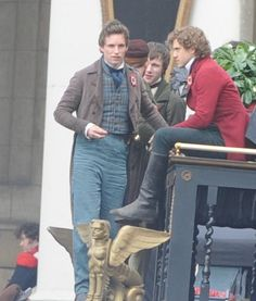 Marius: So, Enjy, I saw this girl on the street and I don't know her name but I love her.. Aaronjolras: Do you see the look on my face? Why are you still talking?? <<< LOL