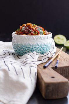 Chilli Cashew Shrimp Noodles   halfbakedharvest.com