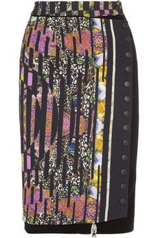 Etro Printed crepe pencil skirt | THE OUTNET