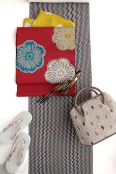 code00002 Yukata Kimono, Kimono Fabric, Traditional Japanese Kimono, Modern Kimono, Japan Outfit, Obi Belt, Japan Fashion, Women's Fashion, Japanese Outfits