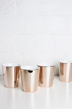 Rose Gold and White Tumbler Ceramic Design, Tumbler, Candle Holders, Rose Gold, Candles, Ceramics, Cool Stuff, Ceramica, Pottery