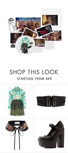 """""""BLΛƆKPIИK   'playing with fire'"""" by baconchan ❤ liked on Polyvore featuring Plein Sud, RED Valentino, Charlotte Russe and baconmvsets"""