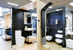Our styling of the Burdens Bathrooms Dandenong showroom Showroom, Bathroom Lighting, Bathrooms, Bathtub, Mirror, Projects, Design, Furniture, Home Decor