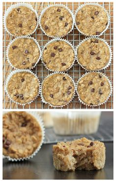 Skinny Mom Connection Recipes: These oatmeal cupcakes are the perfect to go breakfast!