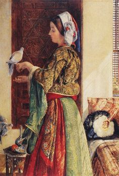 John Frederick Lewis (British Painter, Girl with Doves (In Private Spaces) Image Halloween, Image Chat, Academic Art, Pics Art, Famous Artists, Oeuvre D'art, Female Art, Art History, Contemporary Art