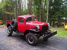 How cool is this? It's a 1958 Dodge W300M Power Wagon on which the frame swivels to accommodate variations in terrain. The Power Wagon was based on the Army's 3/4-ton truck chassis and was first offered after the war in 1946. The swivel frame was an aftermarket modification done at the time by Willock, a Canadian Company.