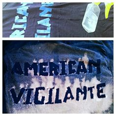 Spray bleach on shirt with a design using elrctrical tape, let it dry, wash several times in cold water