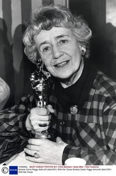 7/21/14  5:13p  The Academy Awards Ceremony 1985:   Dame Peggy Ashcroft Best Supporting  Actress  Oscar for  ''A Passage to India''    Accepting Oscar at Home  1984   Died:  June 1991 ahlantive.com  chrisbarham.dailymail.rexfeatures.com