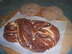 German  bread and yeast nut bread