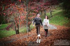 Engagement Session with dog, Charlottesville, Virginia #Engagement, Maran & Rob with Hampton, Image by Holland Photo Arts