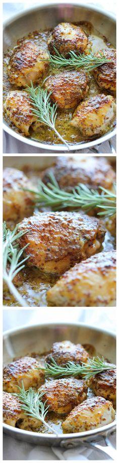 Baked Honey Mustard Chicken - The creamiest honey mustard chicken ever! It's so…