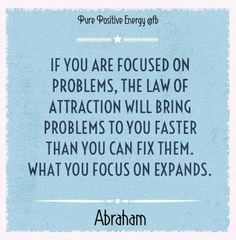 If you are focused on problems - Law of Attraction - Abraham-Hicks Words Quotes, Life Quotes, Sayings, Abraham Hicks Quotes, Law Of Attraction Quotes, Positive Affirmations, Self Help, Inspirational Quotes, Motivational