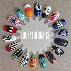 lookathernails: Finally finished my halloween nail art wheel. I... - fuckyeahprettynails