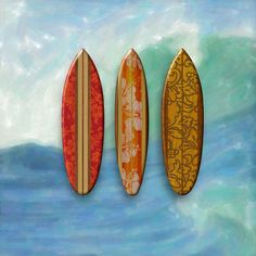 Sunset Beach Hawaiian Surfboards Art Print
