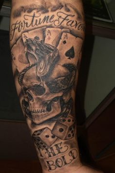 dice and star tattoos | Las Vegas Tattoo Pictures Page 5