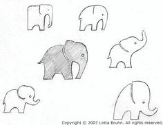 Small elephant tattoos