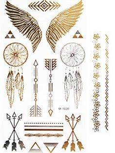 Novoskins Tattoo Artist Gold and Silver Foil Temporary Tattoo Jewellery transfer Angel Wings and Dreamcatcher Collection Set - http://www.yourdreamtattoos.com/novoskins-tattoo-artist-gold-and-silver-foil-temporary-tattoo-jewellery-transfer-angel-wings-and-dreamcatcher-collection-set/?utm_source=PN&utm_medium=http%3A%2F%2Fwww.pinterest.com%2Fpin%2F368450813235896433&utm_campaign=SNAP%2Bfrom%2BYour+Dream+Tattoo