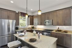 Gray Kitchen Cabinets Design I Kensington Model at Meadowbrook Pointe Links & Spa