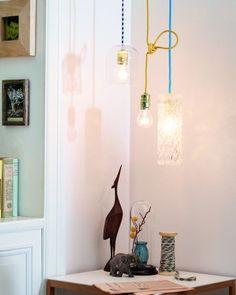 Lampy z butelek i wazonów