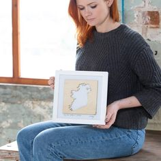 """My heart belongs in Ireland"" wooden map – We Are Born and Bred Laser Cut Wood, Laser Cutting, Wooden Map, My Heart, Ireland, Irish, Gifts, Beautiful, Presents"