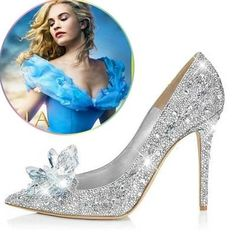 Cheap shoes size 5 women, Buy Quality shoe style directly from China shoes wolverine Suppliers: 2016 New Rhinestone High Heels Cinderella Shoes Women Pumps Pointed toe Woman Crystal Wedding Shoes Zapatos Mujer Rhinestone Wedding Shoes, Silver Wedding Shoes, Wedding Shoes Heels, Prom Heels, Bridal Shoes, Crystal Wedding, Crystal Rhinestone, Disney Wedding Shoes, Wedding Pumps