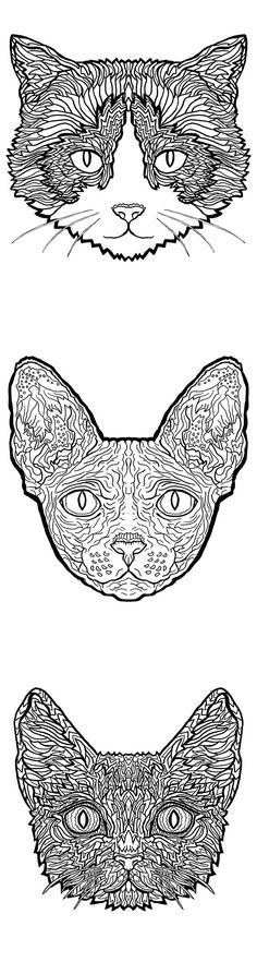 Complicated Cats - Printable Coloring Book - Only $4.99 - Download today!!