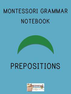 Montessori Grammar Notebook: PREPOSITIONS  $1.oo download