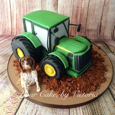 3D tractor cake I made..  Www.yourcakebyvictoria.com