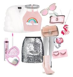 """""""pïnk n' güccï"""" by shadowin on Polyvore featuring Harrods, My Little Pony, Topshop, Chase & Chloe, Bling Jewelry, Laser Kitten, Fendi, BERRICLE and Forever 21"""