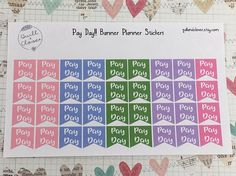 Pay Day Planner Page Flags