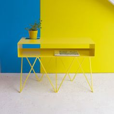 &new Robot Too Side Table-Yellow | &new-robot-too-Yellow | £534.00