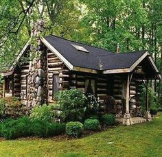Log Cabin Kits, Cabin Plans, Cozy Cabin, Cozy Cottage, Cabin Homes, Log Homes, Grid Architecture, Cabins And Cottages, Log Cabins
