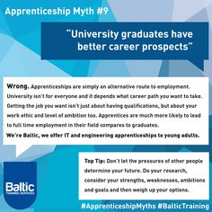 University Graduates Have Better Career Prospects.