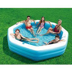 My Sunshine 110 x 110 x 20 Octagonal Inflatable Swimming Pool $30
