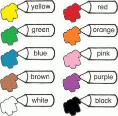 Английский для детей цвета