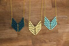 Chevron necklaces that are handmade in Uganda. They're bright, funky, and fight poverty with every purchase.