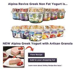 Alpina Greek Yogurt with Artisan Granola - coupons available on facebook!