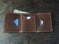 Trifold Wallet Horween Chromexcel Leather by CobblersStitch