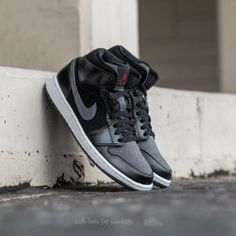 Air Jordan 1 Mid Premium Black/ Gym-Red-Dark Grey-White