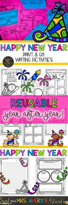 Ring in the New Year with these NO PREP printables and keep your students engaged with a variety of writing activities!  The New Years packet is perfect for January morning work, Daily 5 Work on Writing activities, writing center activities, fast finisher activities, sub lesson plans, inside recess activities, etc.  Click the link to view the preview and see what other teachers have to say about this New Years packet which can be used year after year!